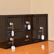 部屋設備 -小分けで使える金庫棚