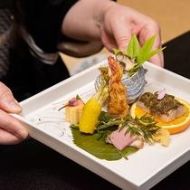 お食事 -季節を感じる皿をご用意します