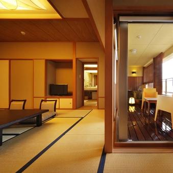 露天風呂付客室【風美亭】和の趣きと露天風呂が融合した和室
