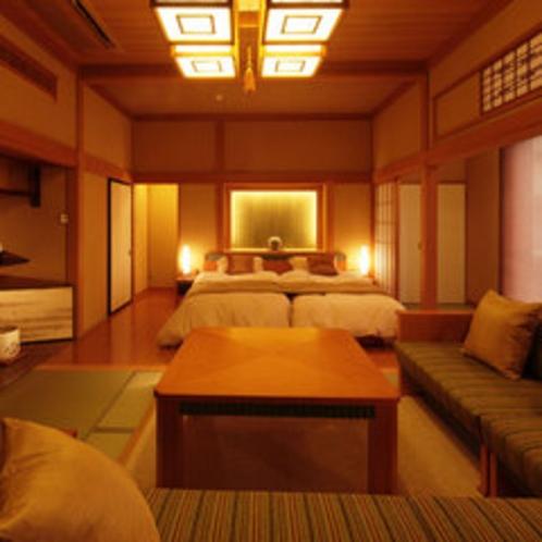 想い出時間【梅紅苑】-BAIKOUEN-純和風の客室にゆったりソファーとベッドスペース