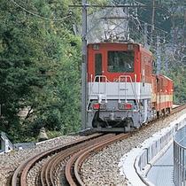 ■ 南アルプスあぷとライン 大井川鉄道井川線。千頭駅から井川駅までの25.5kmを結ぶトロッコ列車。