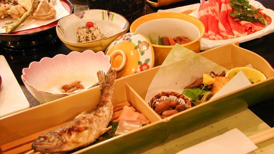 【お料理一例】「地元の食材を生かしたお食事を楽しむ」