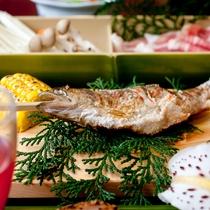 【お料理一例】「地元の食材を生かしたお食事をお楽しみください。」C