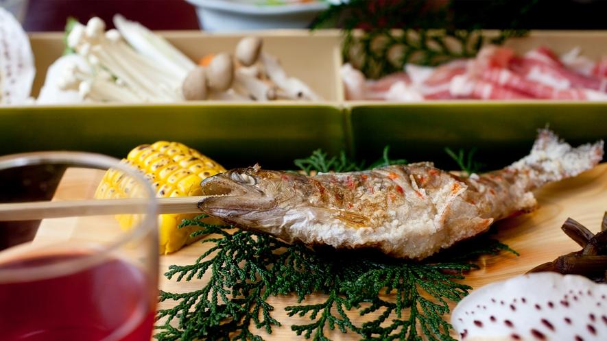 【お料理一例】「地元の食材を生かしたお食事を楽しむ」C