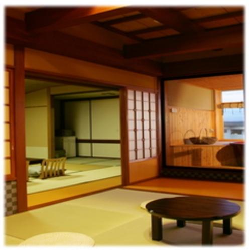 次の間付露天風呂付和室の一例