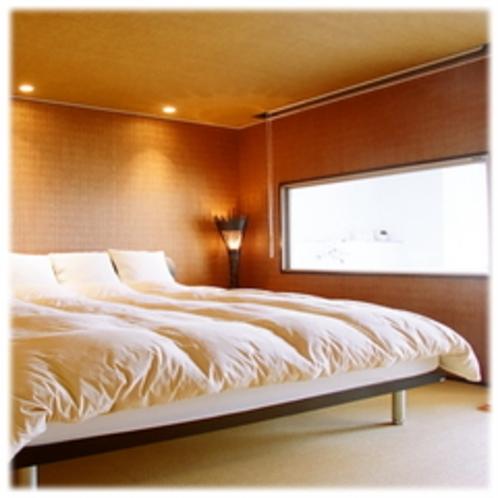 海側猫足バスタブ付和洋室ベッドルーム