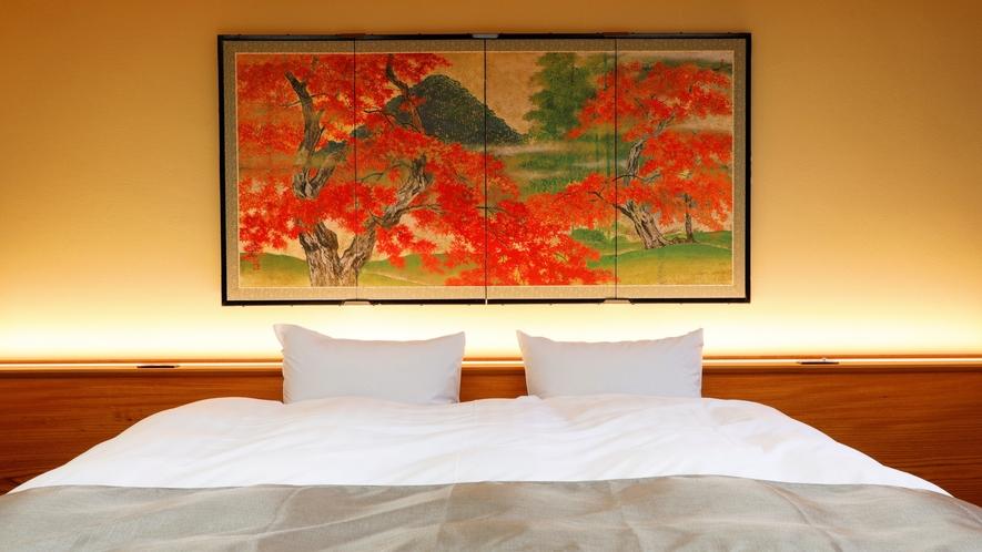 露天風呂付洋室‐201(珊瑚)  ベッド