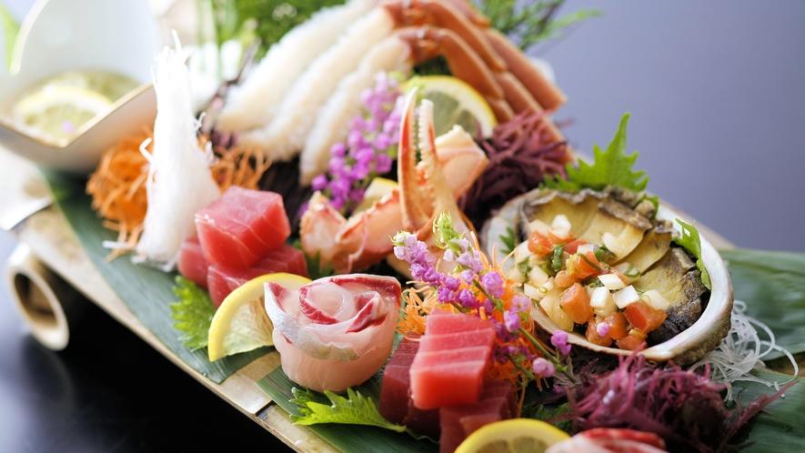 【冬限定】海の幸がいっぱい!松葉ガニを含むお造り(例