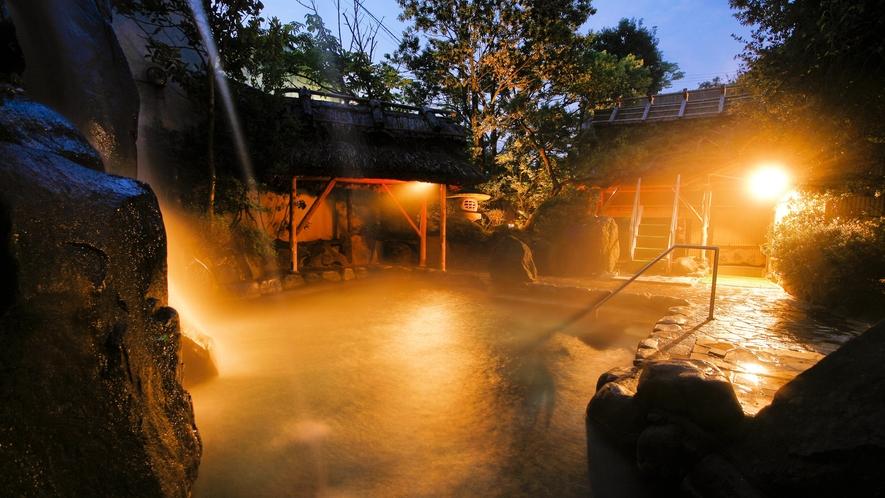 【大浴場】露天風呂‐織姫