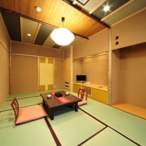 【モダンな造りの南竜館8畳】利根川のせせらぎが心地よいモダンな雰囲気の和室です。