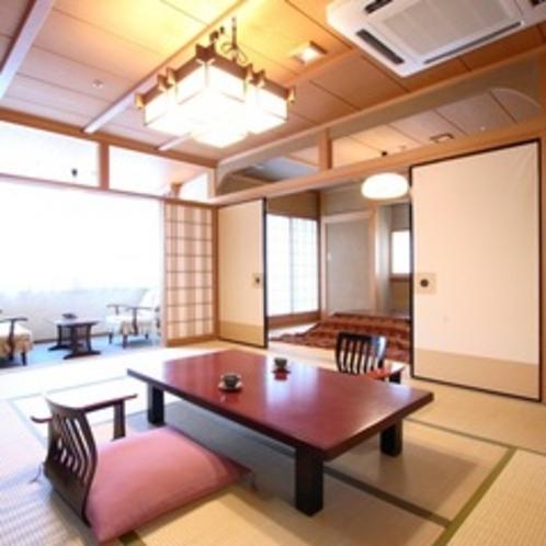 【登竜館 特別室10畳+6畳】ちょっと贅沢な休日を…利根川を望む2間続きの特別室。