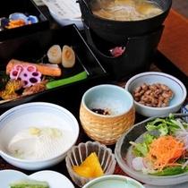 【朝食メニュー】朝食にもこだわった食材を使用しております。