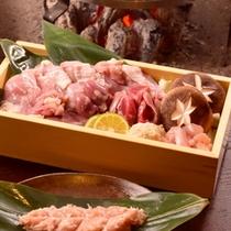 【赤城鶏すき焼き】群馬産のおいしいお肉を堪能♪赤城鶏をすき焼きで。