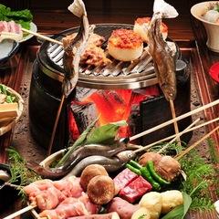"""「ぶらっ」と""""日帰り""""♪【夕食付】名物炭火山里料理<グレードアップ!>お部屋に最大8時間ステイプラン"""