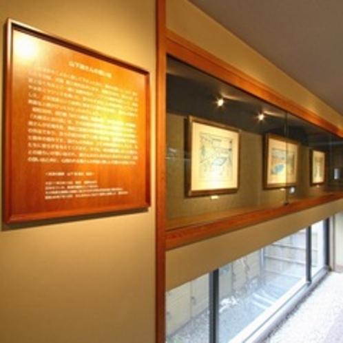 【ギャラリー】渡り廊下にある「山下清ギャラリー」