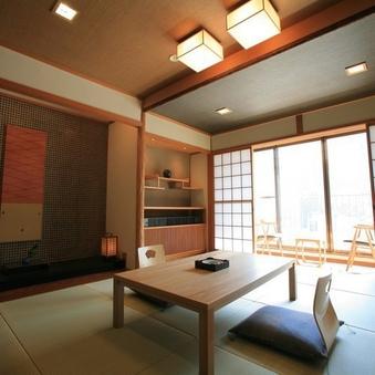八座・七賀楽 -高層階川側和室10畳- [部屋食]