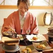 ≪お部屋食イメージ≫夕食は憧れのお部屋食…というのはいかがでしょうか?