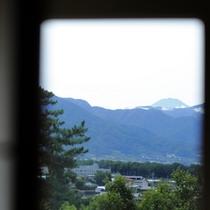 ≪客室眺望:笛吹川側≫天気が良ければ富士山も拝めます
