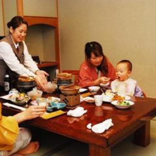 『まだ小さな息子連れでも、お部屋食のプランで安心して食事を楽しめました♪』