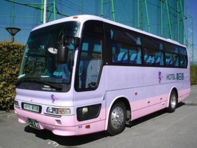 【送迎バス】最寄駅「JR石和温泉駅」までは無料で随時お迎えに伺います。