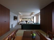 ≪10階ナチュラルモダン和洋室76.5平米≫ベッドエリアと憩いの和室を備えた広々空間