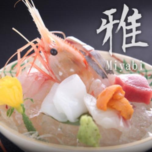 【雅膳:向附 本日の割鮮 煎り酒を添えて】地魚を中心に盛り合わせた、富山の旬味を目と舌で味わう。