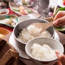 【黒部のコシヒカリ】ご朝食時には富山の名水で炊いた、ホカホカのギンシャリをご賞味下さい。