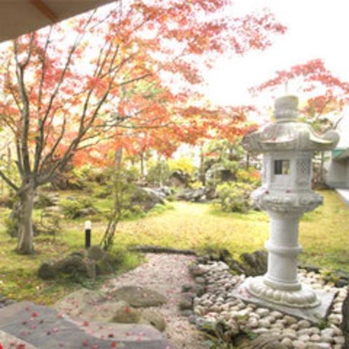 紅葉の美しい日本庭園