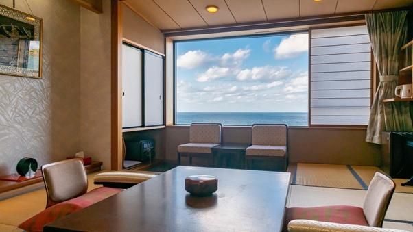 【禁煙】海が見える基本和室10畳◆お食事会場お任せ