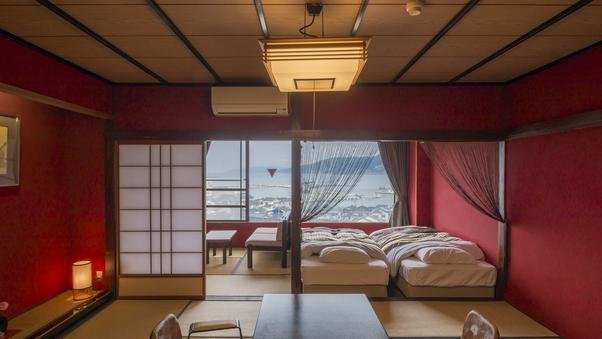 【禁煙】輪島港ハーバービュー和洋室「うるし」◆個室食事処