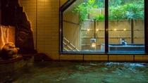 原則、朝夕で男女入れ替え制の大浴場の一例