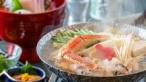 熱々の蟹鍋は冬の風物詩