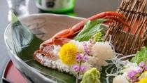とろけるような絶品の甘味。日本酒との相性も抜群の蟹刺し。