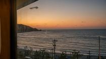 当宿から見える夕日