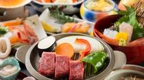 熱々陶板で頂く国産牛ステーキをお愉しみください。
