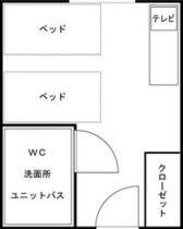 ●ツインルーム平面図