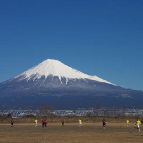 ■富士川河川敷(お車で15分) 富士川河口に広がる広大な緑地公園