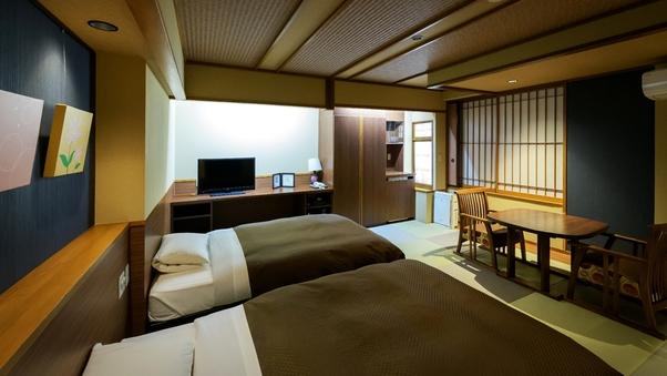 【禁煙:展望風呂つきツイン】ベッド2台/バス・トイレ付