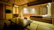 【喫煙可:展望風呂つき和洋室】10畳+ベッド2台/BT付