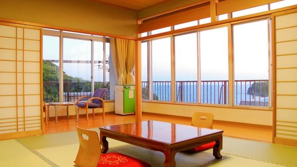 【二間部屋C/コーナールーム】海側10畳+和室ツイン(禁煙)