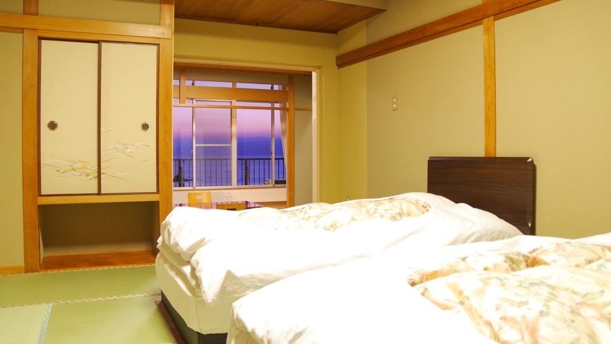 二間部屋Cタイプベッドルーム