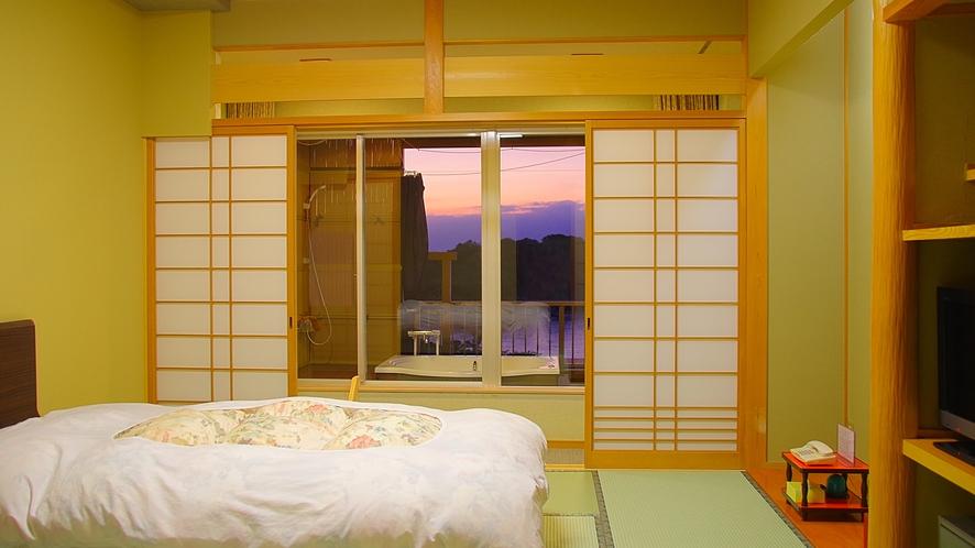 二間部屋Bタイプベッドルーム