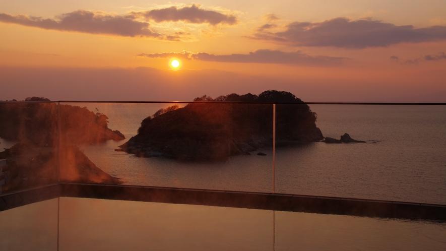 露天風呂夕陽