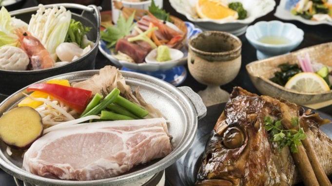 【通年グルメ】グループおすすめプラン!鯛カブト荒煮+能登豚ステーキ付き!9900円〜