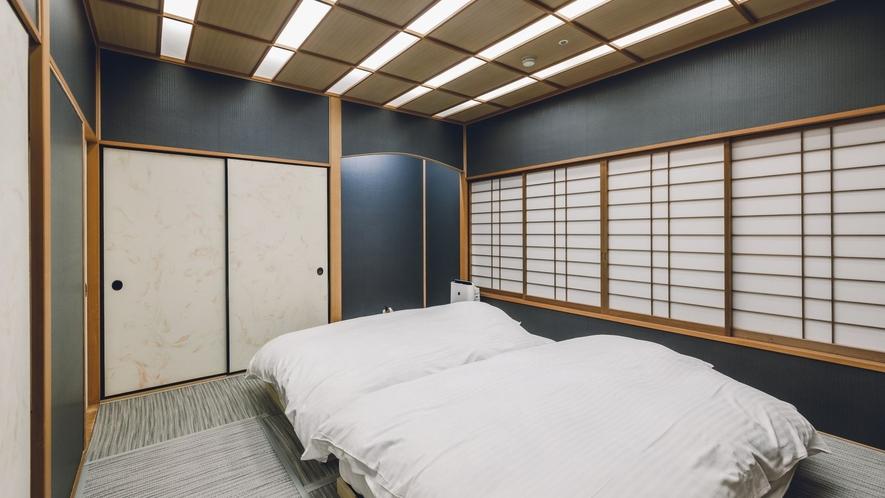 露天風呂付客室「出雲-IZUMO-」 本間に隣接する寝室