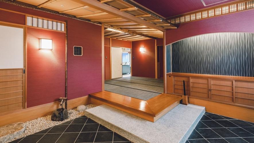 露天風呂付客室「出雲-IZUMO-」 広々とした玄関