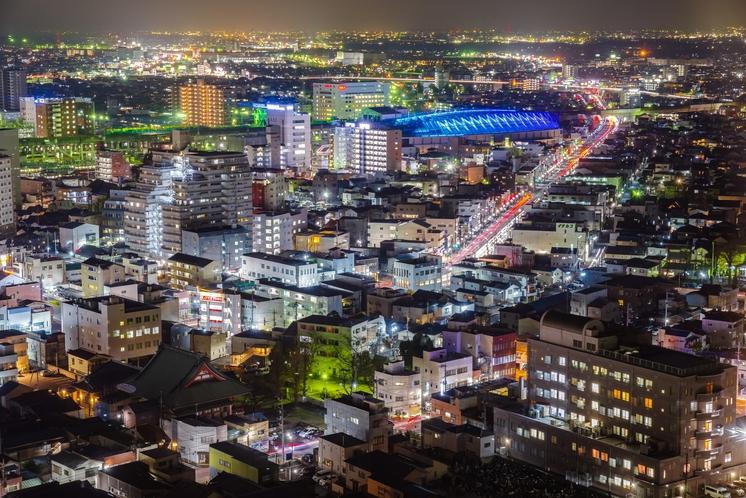 高崎市の夜景