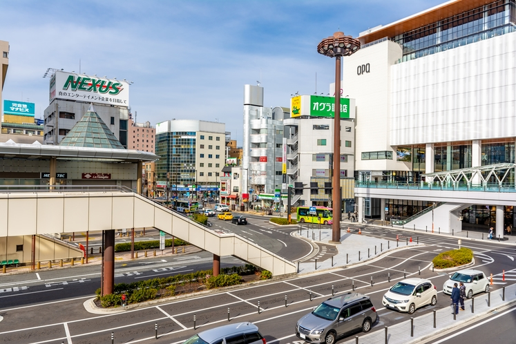 高崎駅西口付近