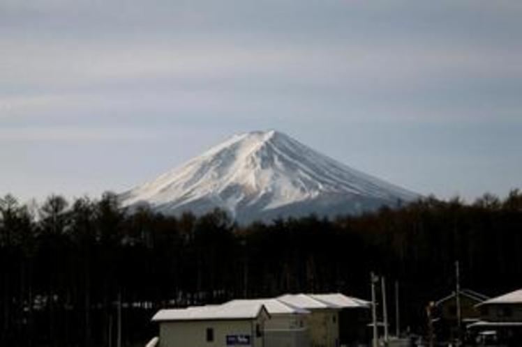 お部屋から見える富士山