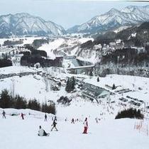 胎内スキー場のゲレンデ